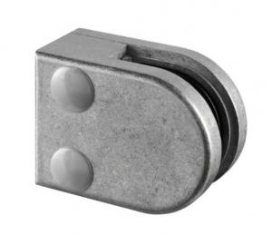 Clema MOD 20 fixare pe drept pentru montant balustrada sticla 6-8 mm0
