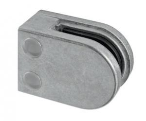 Clema MOD 22 fixare pe drept pentru montant balustrada sticla 6-10 mm0