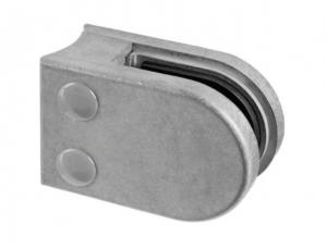 Clema MOD 22 fixare pe rotund pentru montant balustrada sticla 6-10 mm0