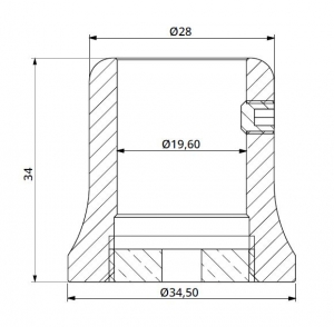 Conector bara stabilizare cabina dus teava/perete1