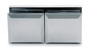 Conector cabina dus sticla/sticla 180°0