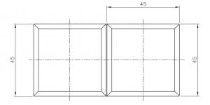 Conector cabina dus sticla/sticla 180°1