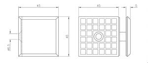 Conector cu talpa cabina dus perete/sticla 90°1