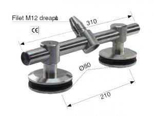 Conector dublu 1xtija/2xsticla 21,52-25,52 mm1