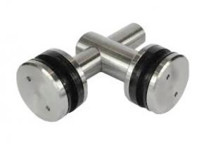 Conector dublu reglabil la 90° sticla/sticla 8-12 mm0
