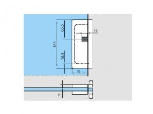 Contraplaca sticla GK 50 - pentru US 20 - Dorma Universal Light2