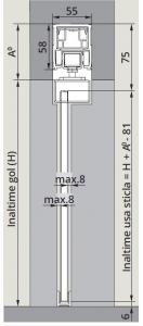 CS80 Magneo Dorma cu sistem glisare fixare sticla in profil montaj tavan1
