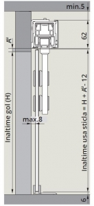 CS80 Magneo Dorma cu sistem glisare Manet montaj perete1