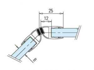 Garnitura magnetica 135° cabina dus sticla 8-10 mm1