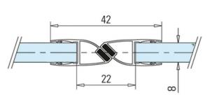 Garnitura magnetica 180° cabina dus sticla 8-10 mm1