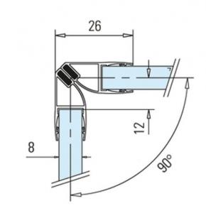 Garnitura magnetica 90° cabina dus sticla 8-10 mm1