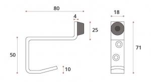 Opritor usa/cuier dublu compartimentare toaleta1