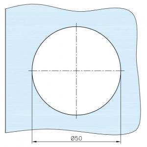 Maner scoica Ø60 mm, sticla 8-12 mm [1]