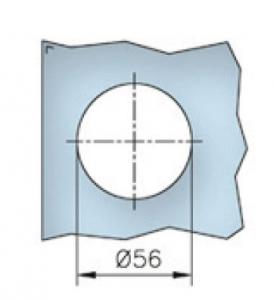 Maner scoica 65x65 mm, sticla 8-12 mm1