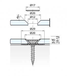 Prindere punctuala GM Pico, sticla 10-12 mm [1]