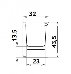Profil U balustrada Easy Glass® Hybrid fixare pardoseala1