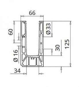 Profil U balustrada Easy Glass® Smart fixare laterala1