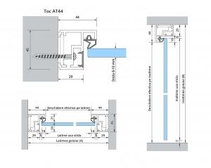 Set Dorma AT 44 inclusiv feronerie usa sticla 8-10 mm1