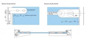Set Dorma AT 44 inclusiv feronerie usa sticla 8-10 mm3