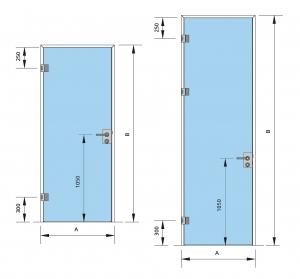 Set Dorma AT 44 inclusiv feronerie usa sticla 8-10 mm2