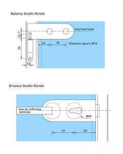 Set Dorma AT 50 inclusiv feronerie usa sticla 8-10 mm3