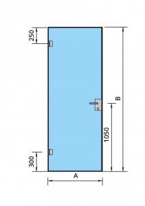 Set Dorma AT 23 inclusiv feronerie usa sticla 8-10 mm2