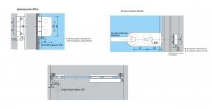 Set Dorma AT 23 inclusiv feronerie usa sticla 8-10 mm3