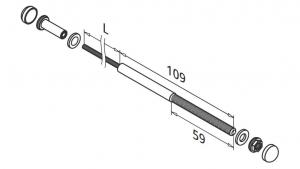 Set cablu FAST FIX pentru montant balustrada1
