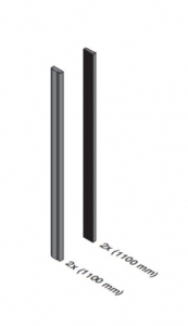 Set cale si garnituri balcon frantuzesc Easy Glass® View, L=2x1100 mm1