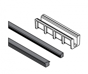 Set cale si garnituri profil U balustrada Easy Glass® Hybrid1