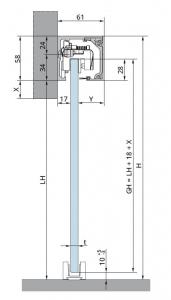 Set glisanta Dorma, Muto Comfort L80 1 foaie mobila1
