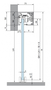 Set glisanta Dorma Muto Comfort L80 Dormotion 1 foaie mobila1