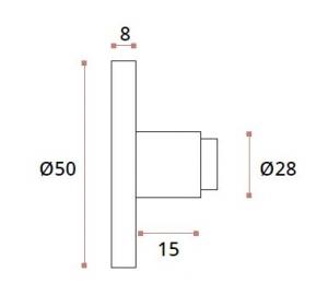 Conector perete/teava Ø25 mm compartimentare toaleta1