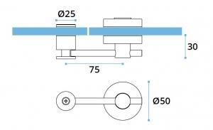 Incuietoare usa sticla/HPL 10-13 mm compartimentare toaleta1