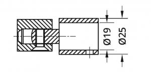 Conector reglabil bara stabilizare cabina dus teava/perete1