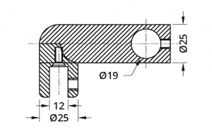 Conector 90° bara stabilizare cabina dus teava/sticla1