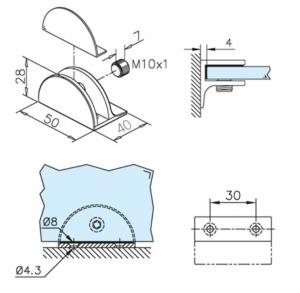 Suport polita sticla 10-15 mm [1]
