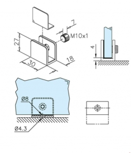 Suport polita sticla 6-10 mm1