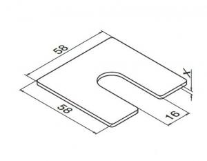 Talpa compensare profil U balustrada Easy Glass® Smart fixare pardoseala1