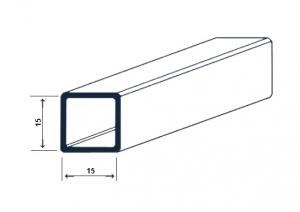Teava stabilizatoare rectangulara cabina dus1