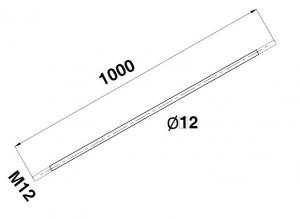 Tija Ø12xM12, L=1000 mm1