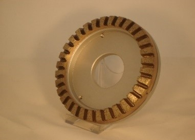 Disc cupa diamantat, 150 x 15 x 10mm, int.50 mm,  32 segmente 45°, gran.80 0