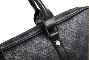 Geanta laptop unisex piele neagra Casi 1