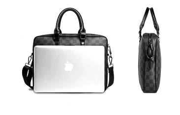 Geanta laptop unisex piele neagra Casi 4