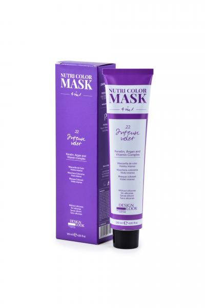 Masca coloranta violet intens Nutri Color Mask 4 in 1 Intense Violet 120 ml 0