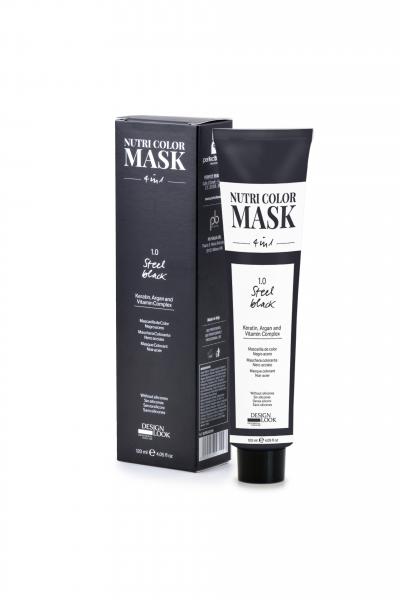 Masca coloranta negru otel Nutri Color Mask 4 in 1 Steel Black 120 ml 0