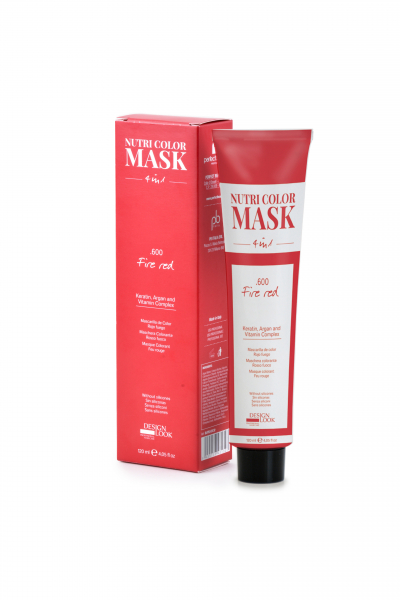 Masca coloranta rosu foc Nutri Color Mask 4 in 1 Fire Red 120 ml 0