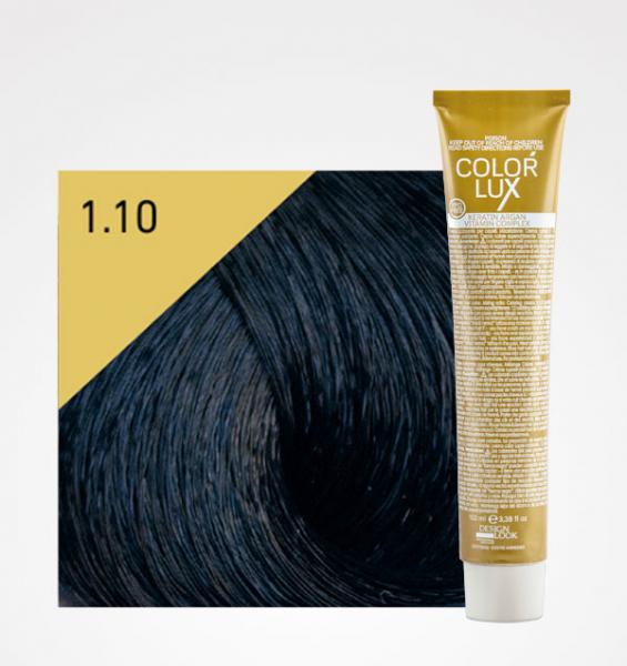 Vopsea de par negru albastrui 1.10 Color Lux 100 ml 0