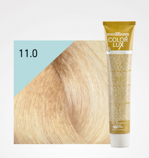 Vopsea de par blond platinat super deschis 11.0 Color Lux 100 ml 0