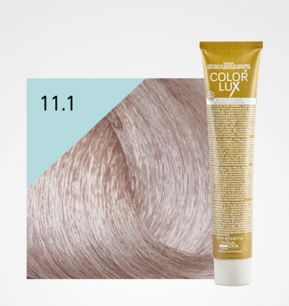 Vopsea de par blond cenusiu platinat super deschis 11.1 Color Lux 100 ml 0
